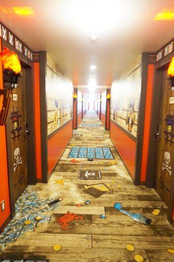 レゴランドホテルのパイレーツフロア