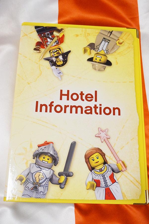 レゴランドホテルのルームサービスメニュー