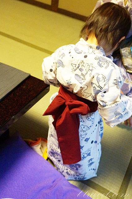 三重県湯の山温泉寿亭の宿泊記赤ちゃんの浴衣
