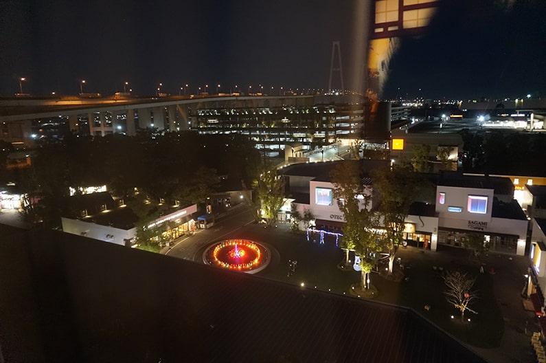 レゴランドホテルのニンジャゴープレミアムルームのお部屋からの眺め